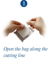1. Open the bag along the cutting line